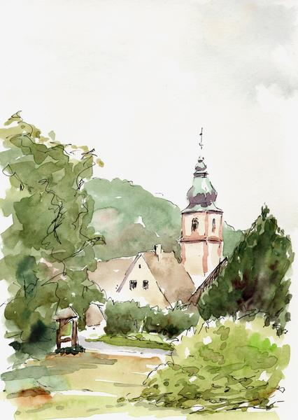 Aquarell Moosbronn